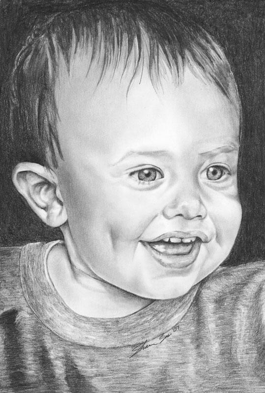 Nephew Henry Graphite Portrait