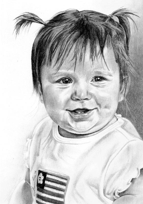 Niece Anna Graphite Portrait