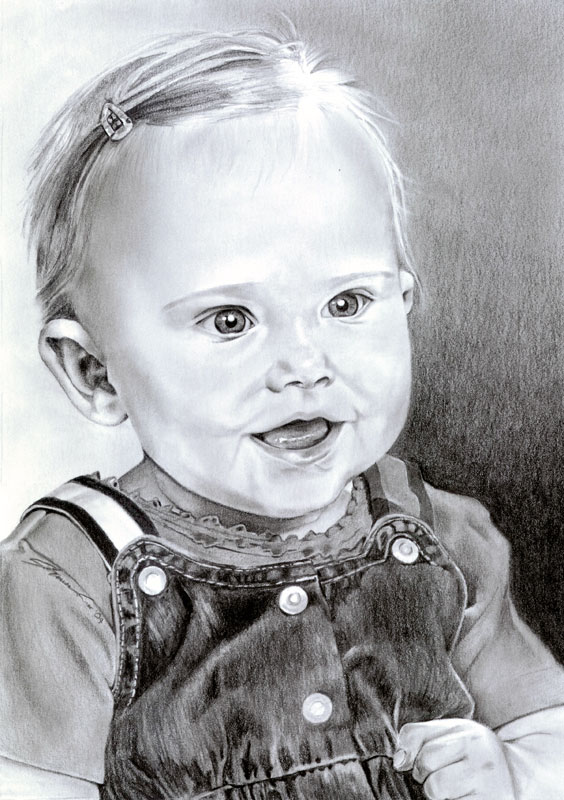Niece Ashlyn Graphite Portrait