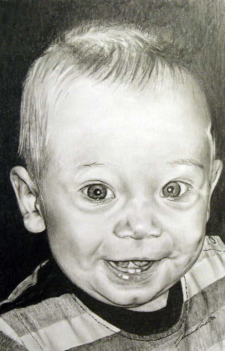 Nephew Cole Graphite Portrait