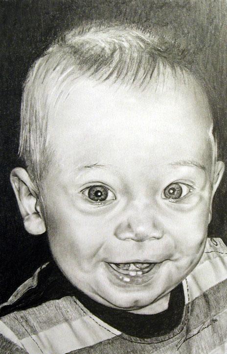 Nephew Cole Graphite Portrait